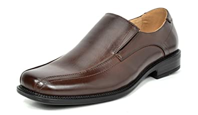 Bruno Marc Men's State-01 Dark Brown Leather Lined Dress Loafers Shoes -  6.5 M