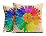 Cushion Cover Jute By MUKESH HANDICRAFTS   Flowers Pattern Cushion Cover Designer   Cushion Cover 12 x 12   Cushion Cover Set 2