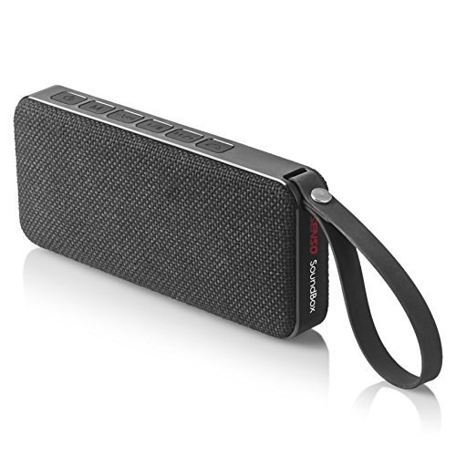 (Senso SoundBox Bluetooth Speaker, Outdoor Portable Wireless Speaker with Built in Mic, Loudest Outdoor Speakers with 10W Stereo Sound, Waterproof IPX7 Rated, Enhanced Bass for Beach Shower Sports Home)