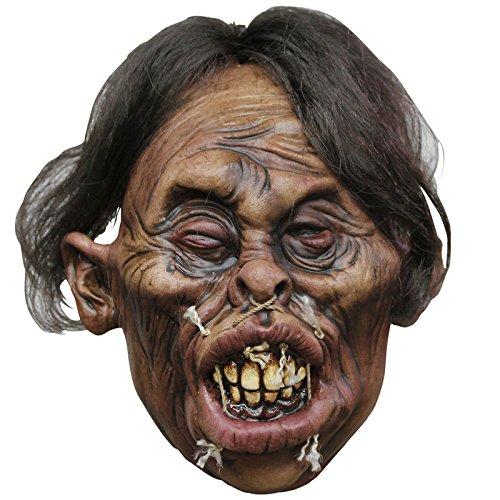 - Ghoulish Voodoo Halloween Deko Shrunken Head Mask