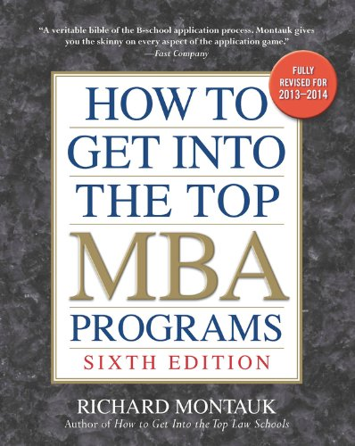 Pdf Education How to Get into the Top MBA Programs, 6th Editon