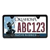 Ohuhu Black License Plate Frames, 4 Hole Matte Aluminum 2 PCS Slim License Plate Frame Screws Caps