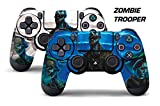 Dual Skin Sticker Wraps 2 Pack PS4 Playstation 4 Remote Controller Decals ZOMBIE