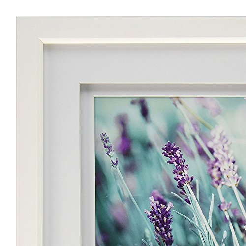 Gallery Solutions 11x14 White Wood Wall Frame With Double