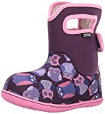 Bogs Baby Waterproof Insulated Toddler/Kids Rain Boots For Boys and Girls, Owls Print/Purple/Multi, 6 M US Toddler