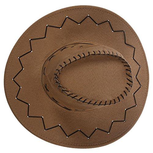Del Cowboy Cowgirl Toogoo West Cachi Accessorio Retro' Beige Rodeo Vestito Di Cappelli Unisex Dal Operato xttHq04Uw