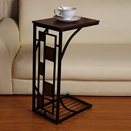 Coffee Tray Side Sofa Table Ottoman Couch Room Console Stand End TV Lap Snack (Distressed Leather Sofa Sale)
