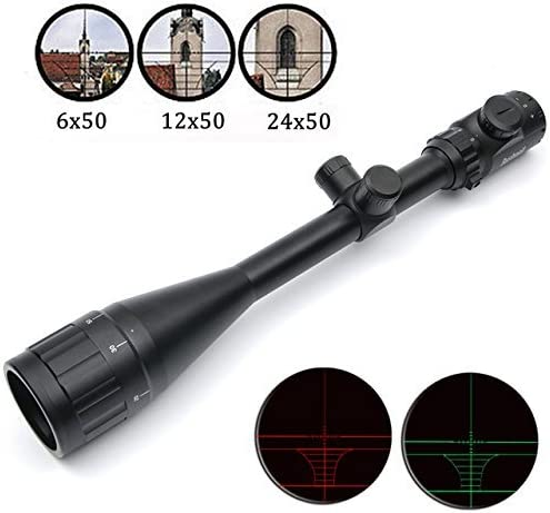 GOTICAL 6-24×50 AOE Riflescope R G illuminated Riflescope Reticle sniper Hunting Scope Heavy Duty Rifle Scope