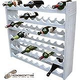 Hogare Cava 100% Madera para 54 Botellas Color Gris-Blanco Vintage