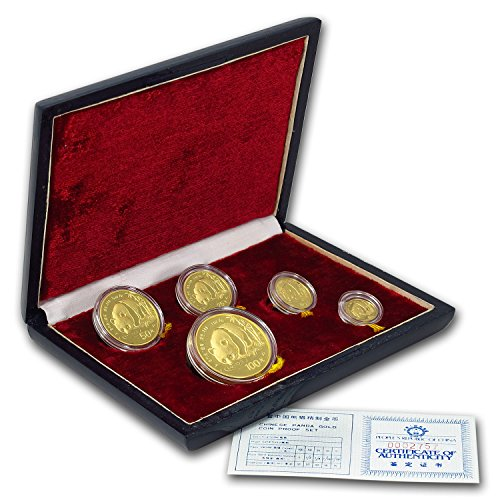 CN 1987 China 5-Coin Gold Panda Proof Set (In Original Box) About Uncirculated