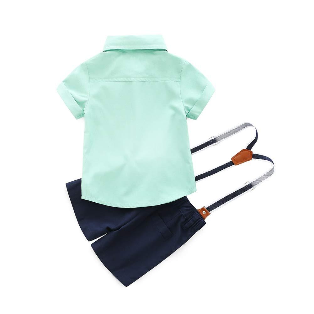 Salopette Shorts Pantalons pour 0-3Ans BOBORA 2PCs B/éb/é Gar/çons Ensemble de Costume T-Shirt N/œud Papillon /à Manches Courtes