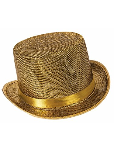 Forum Novelties Men's Adult Glitter Mesh Costume Hat, Gold, One Size ()