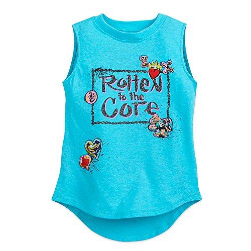 Disney Descendants 2 Tank T-Shirt For Girls Size S (5/6) Blue