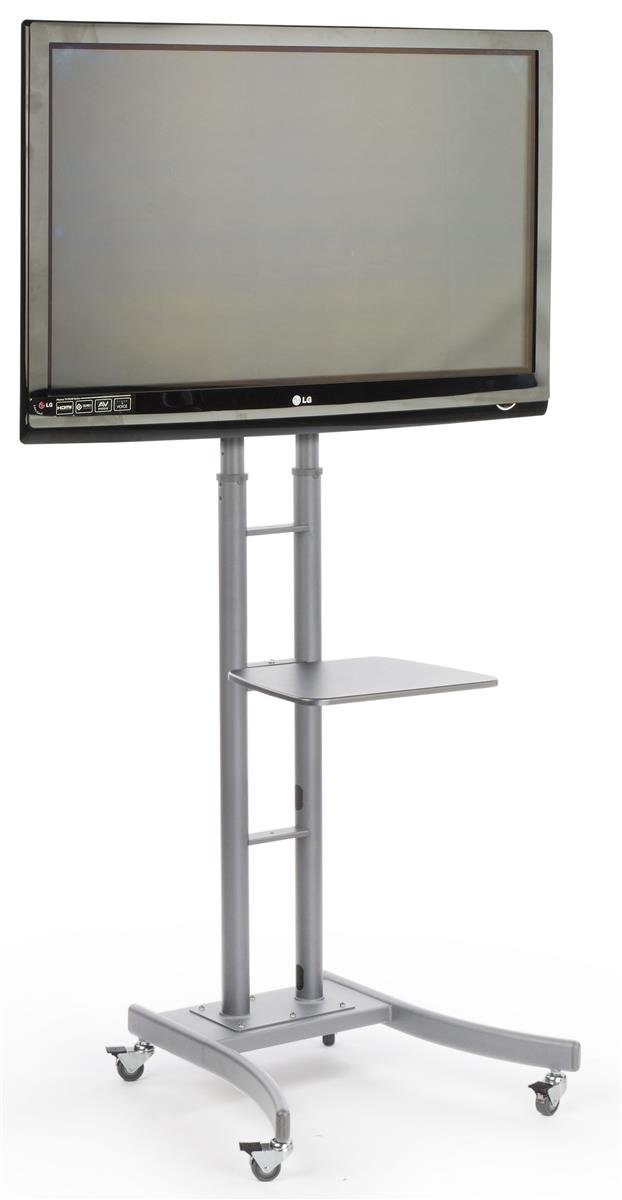 Amazoncom Displays2go Mb863eslv Portable Tv Stand With Wheels For