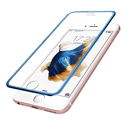 Price comparison product image Mchoice For iphone 6 Plus 3D Premium Real Screen Protector Tempered Glass Protective Film (Blue)