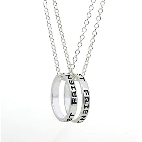 e8b093f2a994 EQLEF alean el Anillo Simple de la Plata Mejores Amigos Forever el Collar  de la Amistad