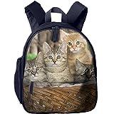 Children Kittens In The Basket School Backpack Gift For Baby Boys & Girls Bookbags School Travel Outdoor Bagpack With Pocket For Toddlers Kids
