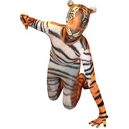 Morphsuits Tiger Kids Animal Planet Costume - Size Large 4'-4'6 -