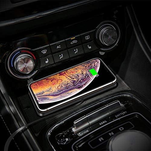 車のノンスリップマットワイヤレス充電器インテリジェント10 w高速充電車の充電マットすべてのワイヤレス充電可能な携帯電話と互換性