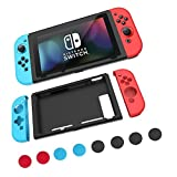 Cheap Mosiso Case for Nintendo Switch, Protective Silicone Cover Lightweight Anti-slip Joy-Con Guards with 8 Thumb Grip Caps for Nintendo Switch, Red and Blue