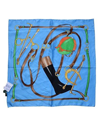 LAUREN Ralph Lauren Ladies Silk Square Scarf Boot (Scarf Ralph Lauren Women)