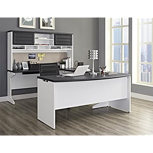 Modern Home Office Desk With Ameriwood Home Pursuit Ushaped Desk With Hutch Bundle Gray Modern Office Desk Amazoncom