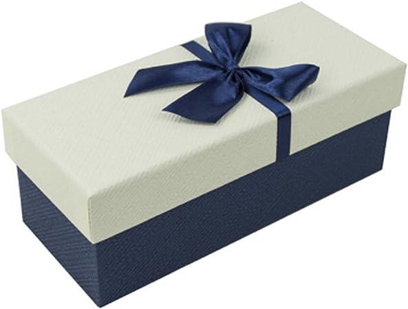 Premium rectangular caja de regalo cajas de regalo Favor presente embalaje, cremosa tapa: Amazon.es: Hogar
