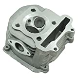 Glixal ATMT1-018 GY6 150cc 57.4mm Cylinder Head Asyy with valves for 152QMI 157QMJ Scooter Moped ATV Go Kart Quad (Non EGR Type)