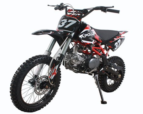 Apollo Precision Tools AGB 37 125cc Big Size Dirt Bike with 17-Inch Tires - 124cc Engines