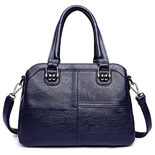 Bolso de hombro de la mujer,Bolso Nueva bolsa silvestre de múltiples capas Bandolera Bandolera Bolso asesino-Azul Azul