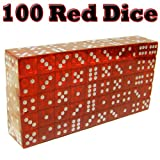 Set of 100 Translucent Color 16mm Casino Dice - Choose Color!