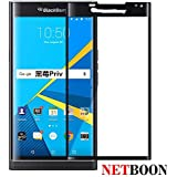 NETBOON® Original BlackBerry Priv Tempered Glass Screen Protector 3D full covered Edge to Edge – [Anti Explosion, HD Crystal Clear Premium Quality Screen glass Guard, Anti-Scratch Original Screen Protector - 9H Hardness Protect Mobile Screen from Dust, Bumps, Scratches, Dirt or any unwanted wear and tear]