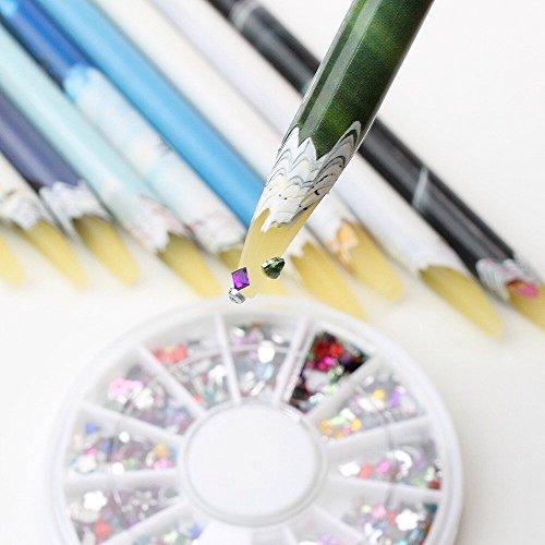 EFT 10x Wax Nail Dotting Pen Nail Art Rhinestones Picking Pen Gems Pick up Pencil Rhinestone Pen