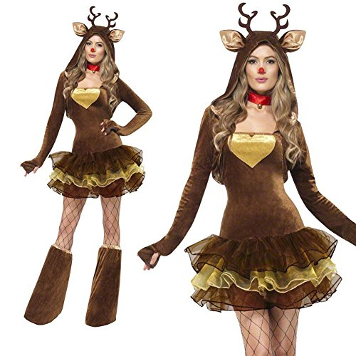 [MARIAN Christmas Reindeer Costumes Sexy Xmas Party Suit for Women] (Sexy Women Costumes Ideas)
