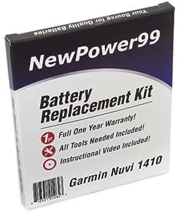 Kit de Reemplazo de la Batería para Garmin Nuvi 1400 Serie (Nuvi 1400, 1410, 1450, 1460, 1490, 1490T) GPS con Video de Instalación, Herramientas y Batería de larga duración