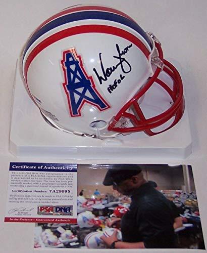 Warren Moon Autographed Hand Signed Houston Oilers Mini Helmet - PSA/DNA