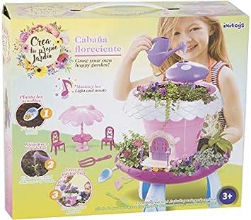 IMITOYS CREA Tu Propio Jardín Cabaña Floreciente con Luces y ...