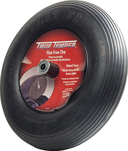 True Temper SFFTCC 3 Carton Spoked Flat Free Replacement Wheelbarrow Tire