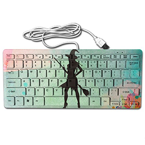 Young Halloween Witch Silhouette By Vexels Ultra-Slim 78 Keys Gaming Keyboard Can Apply Or Be Used Universally]()