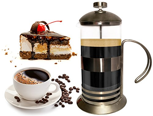 Fantastic Deal! Gear Ultimate French Press: 8 Cup/4 Mug/34 Oz Coffee Tea Espresso Maker, Plunger, Pr...