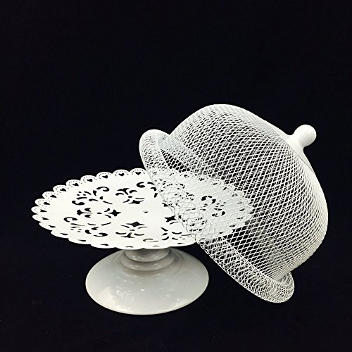 Cake Stand and Dome Lid ,Cake Plate Rack Display Holder Metal for Tea Shop Room Hotel , Wedding Cake Dome,Serving Stand, Food Dome,Cake Display Presentation by Firego (Image #4)