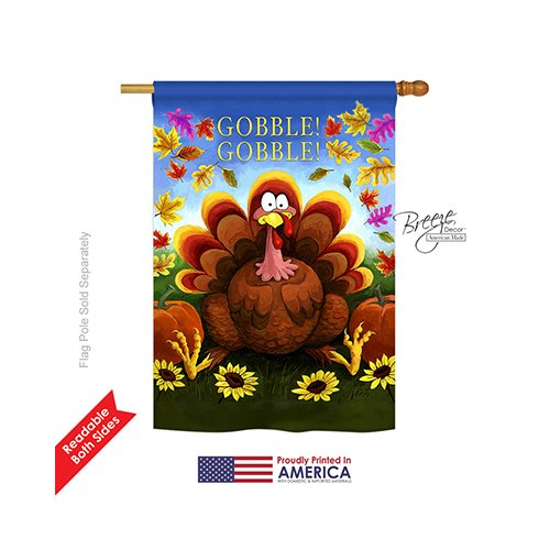 Gobble Large Flag 28