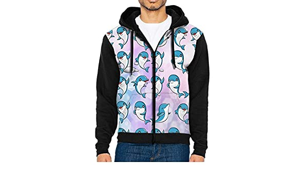 Fengyaojianzhu Tiger Face Men Black Sports Long Sleeve Hoodies Sweatshirts With Pocket
