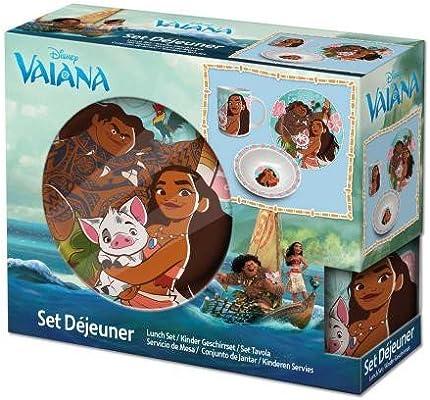 Vaiana Set desayuno 3pcs (Suncity VAA102227): Amazon.es: Juguetes y juegos