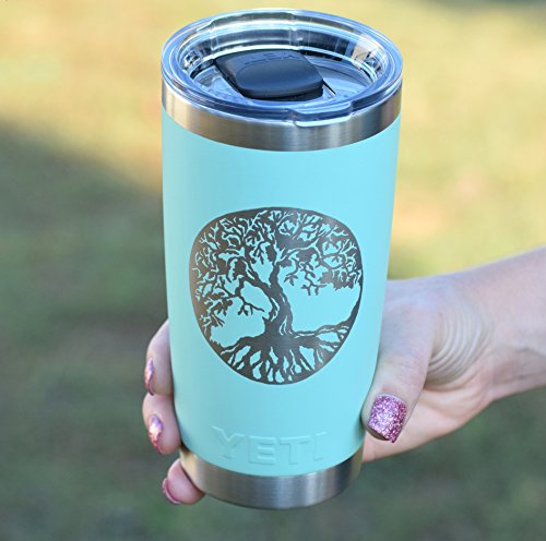 Tree of Life Personalized Yeti Tumbler - Engraved Yeti Rambler - 20 oz Yeti - 30 oz Yeti - Personalized Yeti - Yeti Gift - Laser Engraved Yeti - Yeti Tumbler - Yeti Cup - Yeti for Men by Country Barn Babe