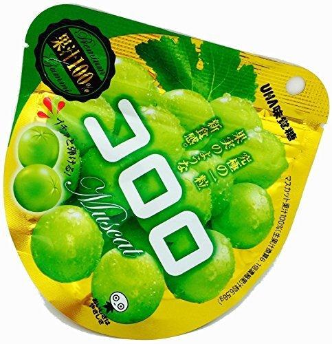 UHA Mikakuto Kororo Muscat Gummy 40g X 6 Packs NEW Item in Japan!!!