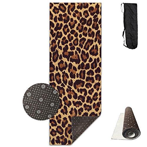 SARA NELL Yoga Mat Cool Cheetah Leopard Design Printed Hot Yoga Mat Carry Strap Carry Bag Extra Large Non-Slip Exercise Mat 71