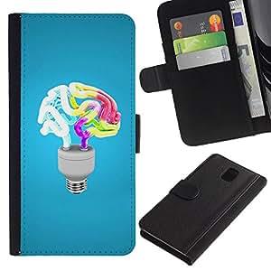Opción de regalo/smartphones Piel Carcasa para Samsung Galaxy Note 3 III // Curioso cerebro luz //