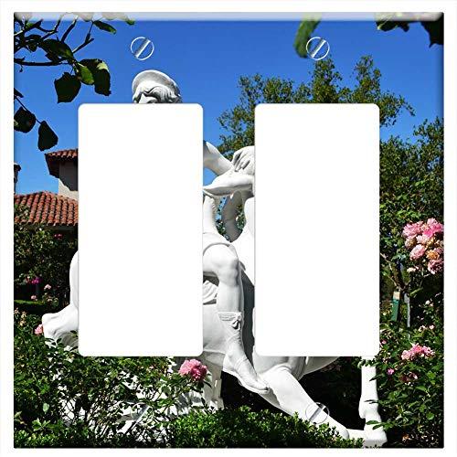 Switch Plate Double Rocker/GFCI - Statue Figurine Sculpture Stone Hearst Castle ()