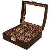 Lady's Leopard Print 8 Watch Storage Box